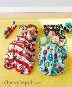 Nap Sack tutorial and kit! As seen in Quilts and More Winter 2013 - @American Patchwork & Quilting - see it on our blog http://shannonfabrics.com/blog/2013/11/15/cuddle-nap-sack-nappy-bag/ #Cuddle #CuddleNapSack