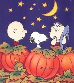 AWWW.... Bring on Fall! Can't Wait... It becomes a family night. Pumpkin cookies and Charlie Brown... all is well at the Chaires Home!