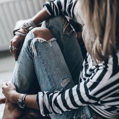 #stripes #jeans