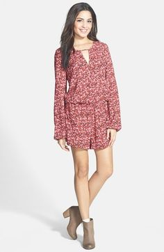 Socialite Print Keyhole Surplice Romper (Juniors) available at #Nordstrom