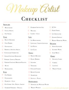 Makeup Artist Kit Checklist | www.fortheloveofmakeupbaby.com http://hubz.info/57/cute-nail-art