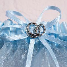 Crystal Blue Bridal Garter Set