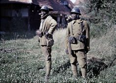 June 22, 1917 Senegalese Bambara soldiers serving with the French Army in Balschwiller, Alsace. IMAGE: PAUL CASTELNAU/GALERIE BILDERWELT/GETTY IMAGES