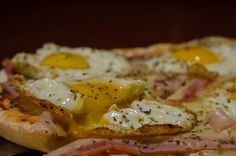 panceta y huevo frito