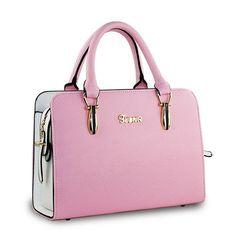 Women Retro Tote Stylish Candy Color Shoulder Bag Crossbody Bag