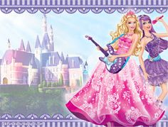 Plantilla invitacion Barbie Popstar