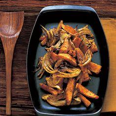 Spiced Winter Squash with Fennel Recipe with butternut squash, fennel bulb, onion, olive oil, ground cumin, ground cinnamon, chili powder, tumeric