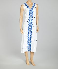 Another great find on #zulily! White Embroidered Maxi Dress - Women & Plus by Highness NYC #zulilyfinds