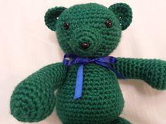 Crochet Green Giant Bear Amigurumi by TheHappyStar on Etsy