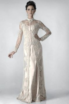Posted by faganteng at AM Malay Wedding Dress, Kebaya Wedding, Muslimah Wedding Dress, Hijab Wedding Dresses, Bridal Dresses, Hijab Bride, Trendy Dresses, Modest Dresses, Nice Dresses