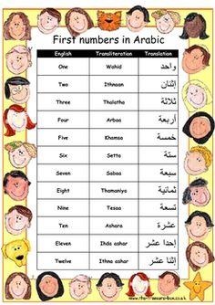 english to arabic vocabulary pdf