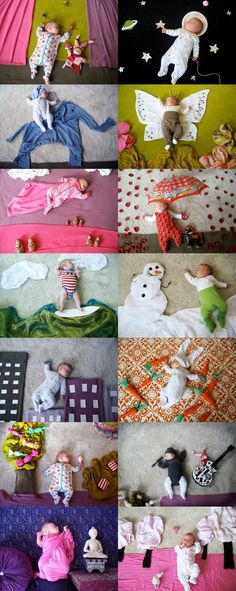 This is super cute. Looks like a lot of work though. @Charity Scantlebury Scantlebury Day baby photoshoots