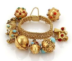 Retro Fine Bracelets for sale Vintage Charm Bracelet, Vintage Jewelry, Charm Bracelets, Jewelry Design Earrings, Sterling Silver Bracelets, Gold Bangles, Turquoise Jewelry, Jewelry Collection, Fine Jewelry