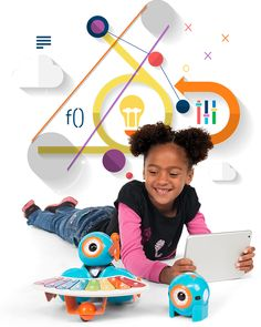 (Wonder Workshop, Home of Dash and Dot, robots that help kids learn to code Dash And Dot Robots, Dash Robot, Robots For Kids, Science For Kids, Teaching Kids, Kids Learning, Google Birthday, Fun Educational Games, Coding For Kids
