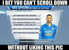 Love dhoni Ms Dhoni Records, History Of Cricket, Latest Cricket News, Chennai Super Kings, Cricket Score, Love U Forever, Mind Blowing Facts, I Cool, Best Player