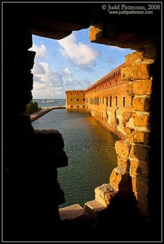 Fort Jefferson and its moat at Dry Tortugas National Park (70 miles west of Key West, Florida) by Judd Patterson