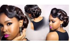 Super Chic - Black Hair Information Community Natural Hair Updo, Natural Hair Styles, Short Hair Styles, New Hair Do, Love Your Hair, Cute Hairstyles, Wedding Hairstyles, Black Hairstyles, Wedding Hair And Makeup