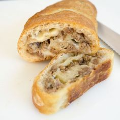Several years ago, I had this incredible Sausage Bread that my sister made. I've been wanting to mak Good Food, Yummy Food, Yummy Lunch, Tasty, Sausage Balls, Breakfast Recipes, Breakfast Ideas, Breakfast Dishes, Breakfast Time