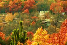 Eureka Springs, Arkansas in the fall. I can promise you that you will never see a more beautiful place than the mountains of Arkansas in the fall. It's breathtaking.