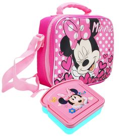 4616e909739 Girls Disney Minnie Mouse Insulated Lunch Bag Pink   Sandwich Box