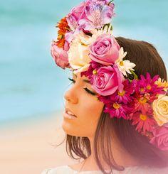Inspiração: Coroa de flores coleção de verão! #Remember