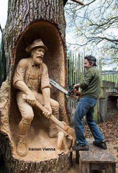 Amazing! #chainsawwoodcarvings