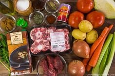 Pressure Cooker Oxtail Soup Ingredients