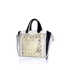 Bag yourself some arm candy with our new season collection of women's bags and purses. From suitcases, totes, satchels, clip top purses to cross-body bags. Shopper Tote, Satchel, Crossbody Bag, Tote Bag, River Island Outfit, River Island Fashion, Laser Cut Panels, Womens Closet, Womens Purses
