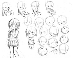 chibi ✤ || CHARACTER DESIGN REFERENCES | キャラクターデザイン •