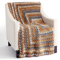 Caron® Big Cakes™ Stacking Blocks Crochet Blanket in Tiramisu