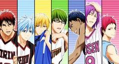 KnB ~ Generation of Miracles members plus Kagami Taiga