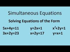 73 best mathematics images on pinterest math mathematics and algebra simultaneous equations the complete maths guide fandeluxe Choice Image