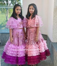 Vishnu Manchu and Viranica celebrated Diwali with family and close friends. vishnu manchu family diwali photos, prabhas at vishnu diwali party Baby Girl Party Dresses, Toddler Girl Dresses, Girls Dresses, Kids Dress Wear, Kids Gown, Kids Wear, Girls Boutique Dresses, Kids Blouse Designs, Kids Party Wear