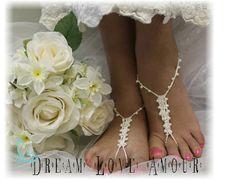 Crochet Barefoot sandals  beach wedding  by