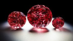 The three Argyle Red Diamonds from the Argyle Pink Diamond Tender 2013