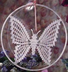 How to crochet Butterfly see step by step - Crochet yarn Art Au Crochet, Mandala Au Crochet, Bead Crochet Patterns, Crochet Butterfly, Crochet Motifs, Thread Crochet, Irish Crochet, Crochet Designs, Crochet Doilies