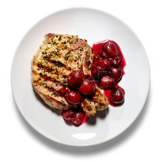 pork chops grilled pork chops with cherry salsa recipe simplyrecipes ...