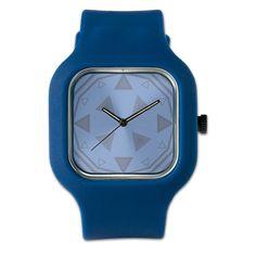 Compass Clock In Blue Watch