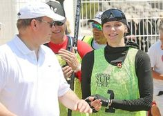 """On June 25, 2016, Saturday, Prince Albert of Monaco gave the start signal of """"Riviera Sup Race"""" which is a 14km stand up rowing race on the coast of Monaco, Larvotto. 81 athletes joined the race. Princess Charlene of Monaco took part in the race actively and joined the race in company with her brother Gareth Wittstock. """"Riviera Sup Race"""" rowing race is held among three countries, Monaco, Italy and France and this year, it is held for the second time."""