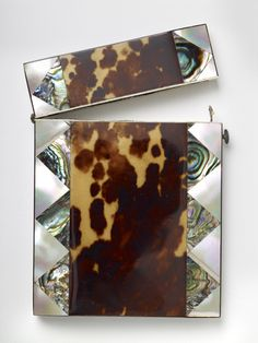 Visiting Card Case (tortoiseshell, pearl and oyster-coloured shell), F. Stringer, 1825-75 Gifted to the collection in 1928 #bmag130