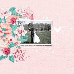 Sky High Happy military wedding scrapbook page #designerdigitals