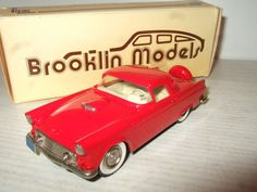 Rare Brooklin BRK 13 ,1956 Ford Thunderbird Hardtop in 1:43 Scale.