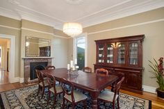 Majestic renovated mansion with studio, original formal dining room, formal setting, fireplace, 25 Shaw Street, Petersham, Pilcher Residential
