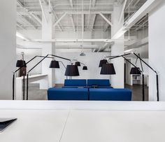 v2com newswire | Commercial Interior Design | Design of BLUE Communications' office space - Jean Guy Chabauty