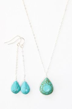 Turquoise jewelry set/so easy to make!!