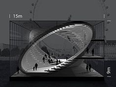 A group of Brazilian architects has sent us these images of a conceptual, mobile gallery, designed to travel along the River Thames in London. The project was developed for a contest organized by the architecture agency Arquitectum, called London by Architecture Design, London Architecture, Concept Architecture, Landscape Architecture, Landscape Design, Building Architecture, Architecture Portfolio, Pavilion Architecture, Organic Architecture