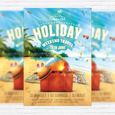 Summer Holiday Travel - Premium Flyer Template + Facebook Cover http://exclusiveflyer.net/product/summer-holiday-travel-premium-flyer-template-facebook-cover-2/