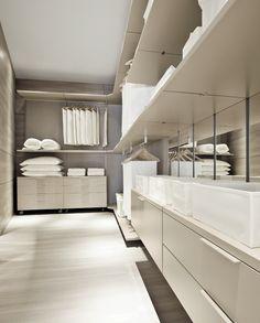 Sectional walk in wardrobe MYWALL,  MOVI ITALIA