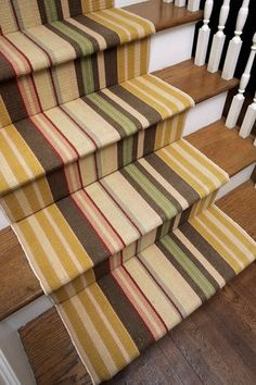 Stairs Carpet Design, Pictures, Remodel, Decor and Ideas - page 8 Wooden Staircases, Wooden Stairs, Marble Stairs, Stairways, Hallway Carpet Runners, Cheap Carpet Runners, Wall Carpet, Carpet Stairs, Striped Carpets