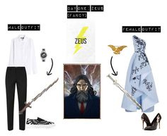 Percy Jackson Outfit Challenge Day One by trippy-peaches on Polyvore featuring art